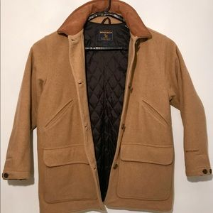 New WoolRich Quilt Lined Wool Camel Barn Coat